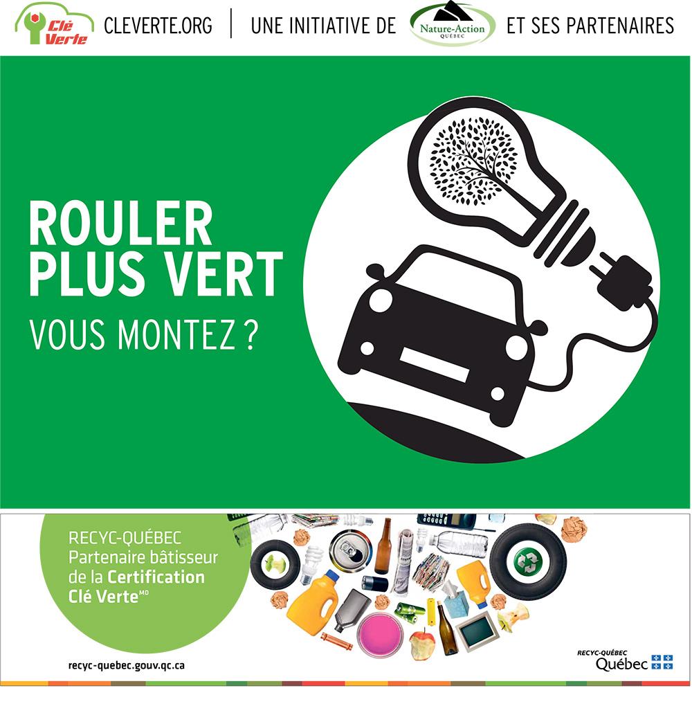 Certification clé verte - roulez vert - garage services automobiles Québec